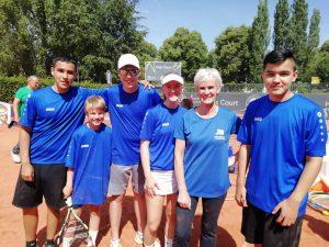 Die Tennis-Talente des Bargteheider TC absolvierten eine Trainingseinheit mit Profi-Mama Judy Murray.