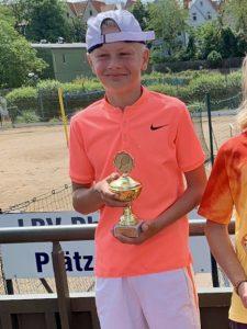Lokalmatador Bennet Reber kam in der Altersklasse U12 bis ins Halbfinale.