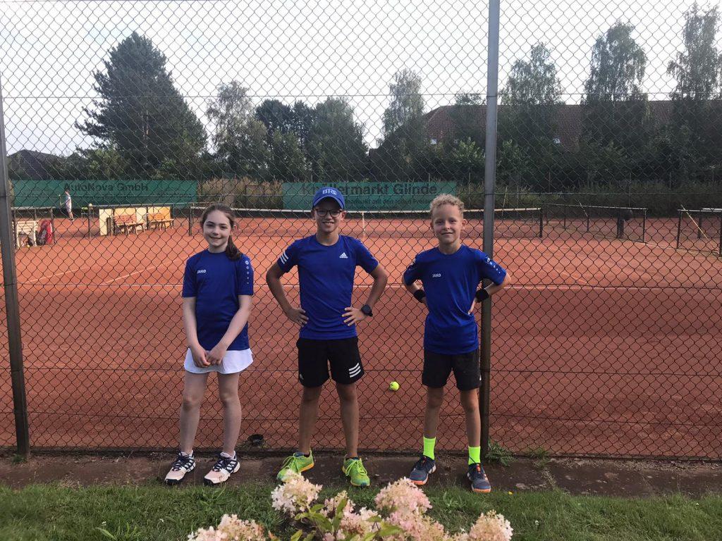 Echte Champions: Amelina Hutt, Gustav Großmann und Mats Haverland.